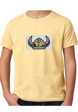 Hawthorne Helmet Flip Sequins tee - yellow - Youth