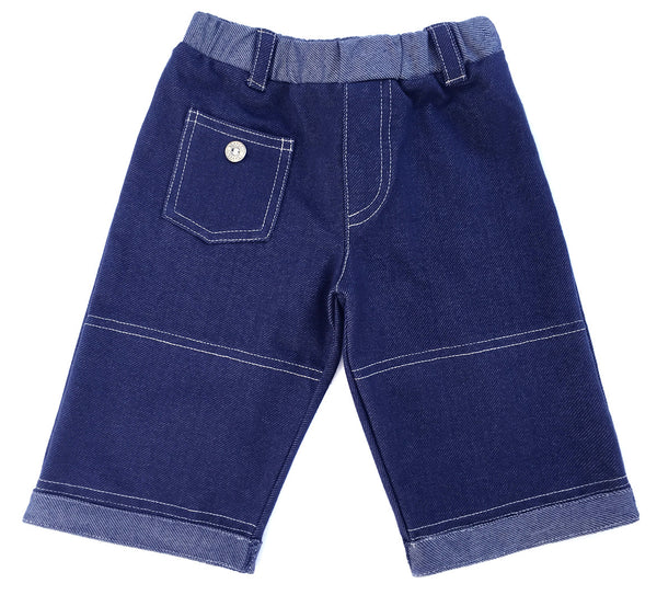 boys,classic jean, cropped jeans, soft, high quality, denim, knit, soft padding, padded knee pants, baby,toddler, best, boys jeans, made in USA