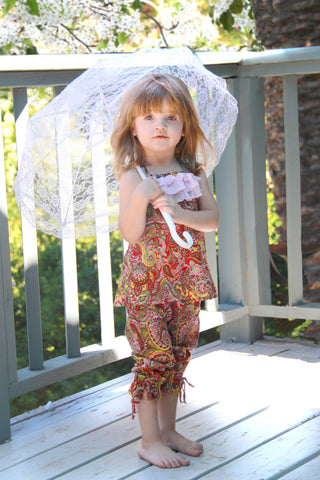 summer colors, sweet, sassy, paisley, halter,brighten, little, princess' wardrobe, delicate, spaghetti, straps, chiffon, layered ,ruffle