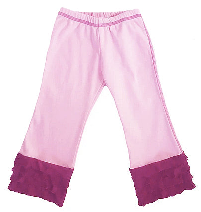 Girls 'Sweet Heart' Ruffle Knit Pant
