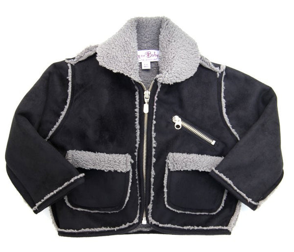 warm,cozy,suede,fleece,baby,motorcycle,jacket,winter