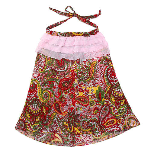 summer colors, sweet, soft cotton, paisley print, halter, little princess, wardrobe, delicate,chiffon,ruffles,cute girls clothes,shop jam on baby, made in USA