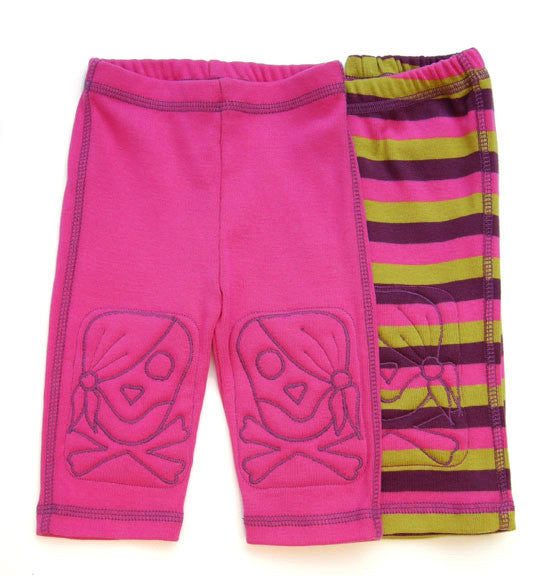 Pirate Princess - Pink/Stripe Padded Knee Leggings