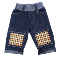 cowboy, love, soft, denim, knit, jeans, plaid, padded, knee patches, protective clothing, baby jeans, boys jeans, kids fashion, best baby clothing, crawling pants,rodeo pants