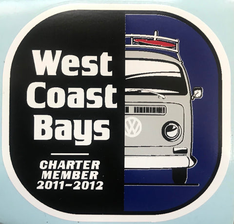 2011-2012 West Coast Bays Decal