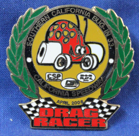 "BUG-IN #33 ""Drag Racer"" Pin"