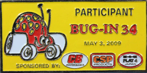 2009 BUG-IN #34 Dash Plaque