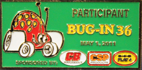 2011 BUG-IN #36 Dash Plaque