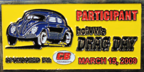 Hot VWs Drag Day Dash Plaque - March 15, 2009