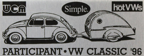 1996 VW Classic Dash Plaque