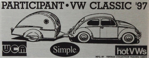 1997 VW Classic Dash Plaque