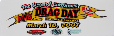 Hot VWs Drag Day Dash Plaque - March 18, 2007