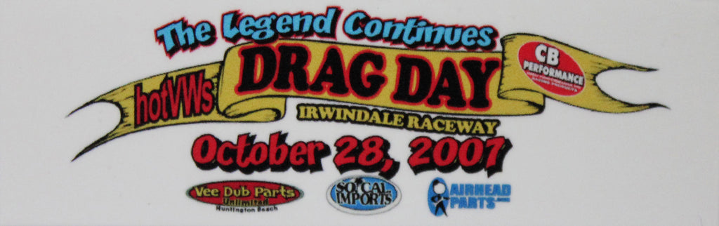 Hot VWs Drag Day Dash Plaque - October 28, 2007