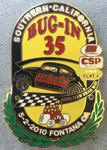 2010 BUG-IN #35 Car Badge