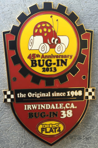 2013 BUG-IN #38 Car Badge