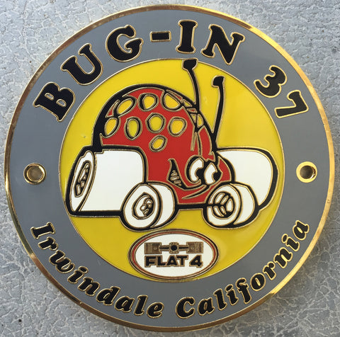 2012 BUG-IN #37 Car Badge
