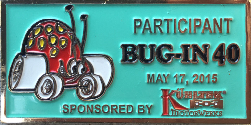 BUG-IN #40 Dash Plaque