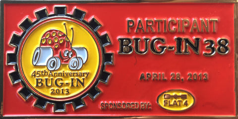 2013 BUG-IN #38 Dash Plaque