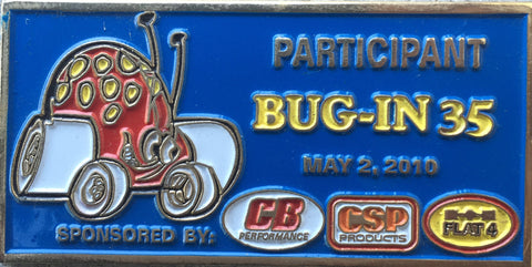 2010 BUG-IN #35 Dash Plaque