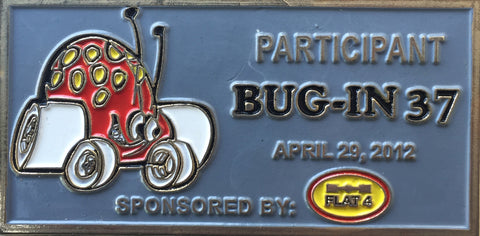 2012 BUG-IN #37 Dash Plaque