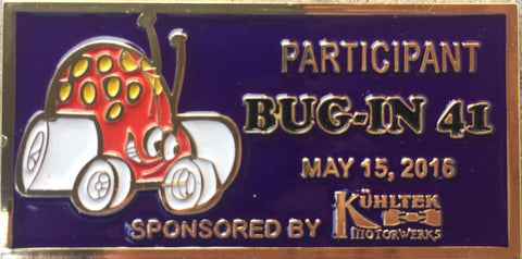 2016 BUG-IN #41 Dash Plaque