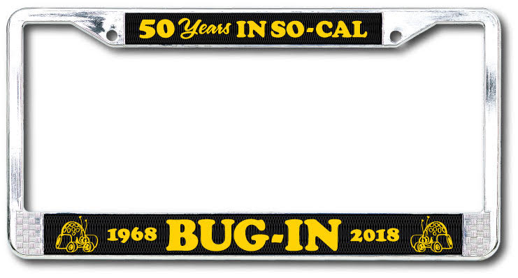 BUG-IN License Plate Frame