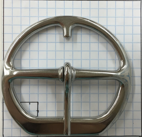 "Girth Buckle - 3"" - Stainless Steel or Solid Brass"