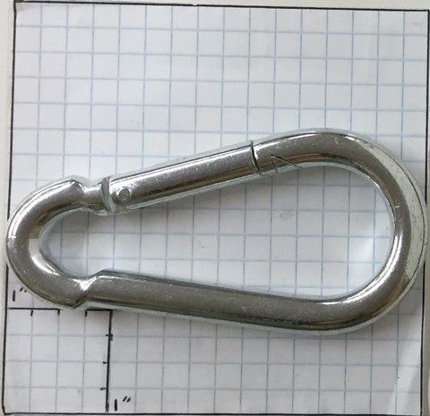 "Spring Snap Hook - 3/8"" x 4"" - ZP"