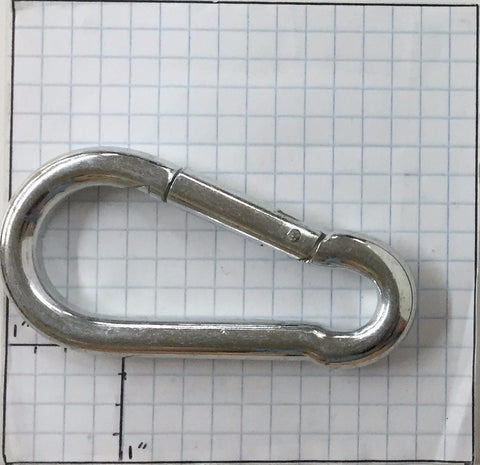 "Spring Snap Hook - 3/8"" x 3-1/2"" - ZP"