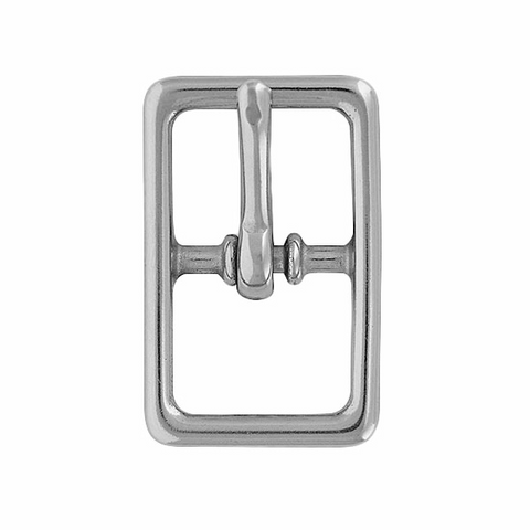 #121 Center Bar Buckle - Chrome Brass
