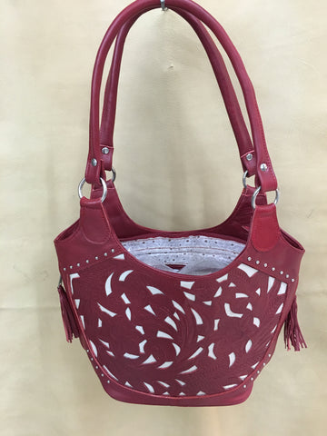 Ropin' West - Leather Cutout Floral Design Purse