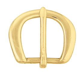 Rounded Heel Bar Buckle - Solid Brass