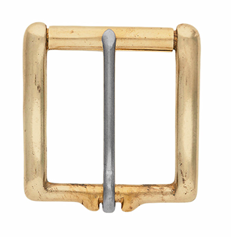 Heel Buckle - Solid Brass w/Stainless Steel Tongue