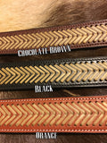 Chevron Leather Dog Collar