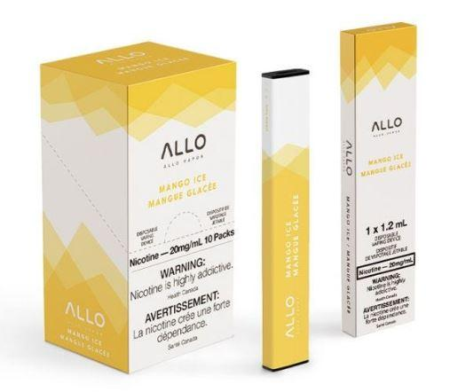 Mango Ice ALLO Disposable Pod Bar Alliston Newmarket Woodbridge Vaughan Toronto GTA Ontario Canada