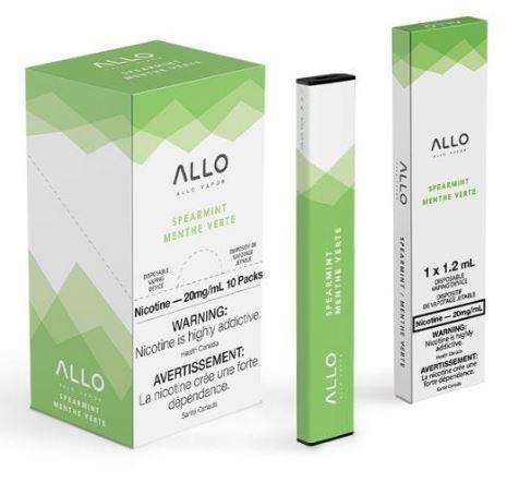 Spearmint ALLO Disposable Pod Bar Alliston Newmarket Woodbridge Vaughan Toronto GTA Ontario Canada