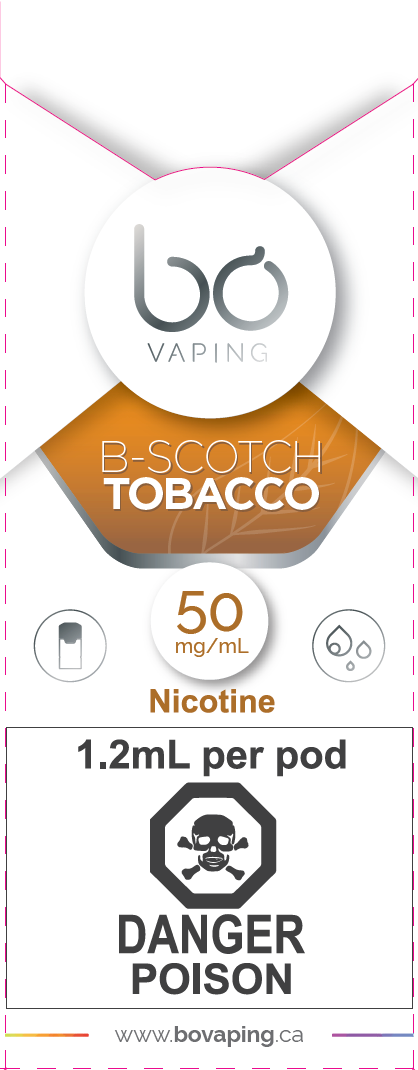 Buttercotch Tobacco Pods Bo Vaping Newmarket Vaughan GTA Toronto Woodbridge Ontario Canada