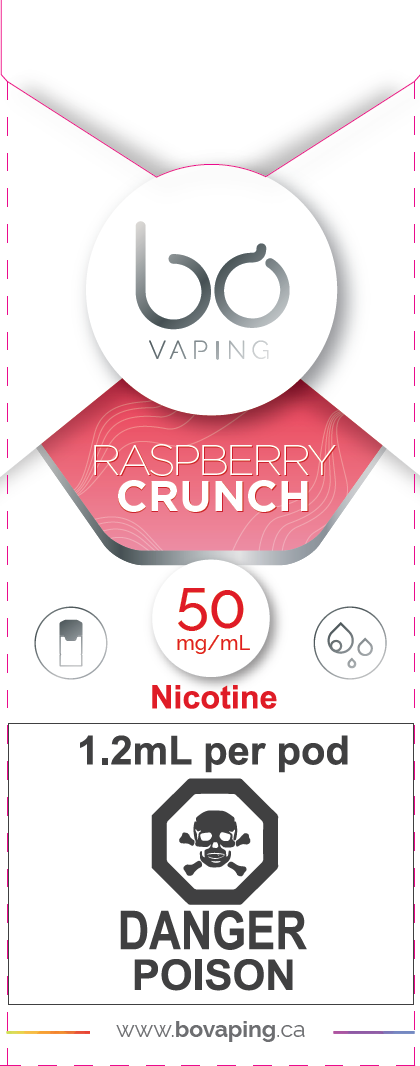 Raspberry Wafer Crunch Pods Bo Vaping Newmarket Vaughan GTA Toronto Woodbridge Ontario Canada
