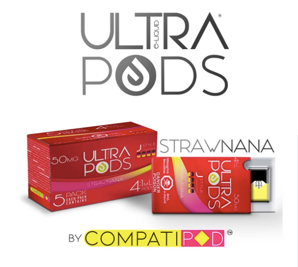 Strawnana Ultra Pods JUUL Compatable Pods Alliston Newmarket Vaughan GTA Toronto Woodbridge Ontario Canada