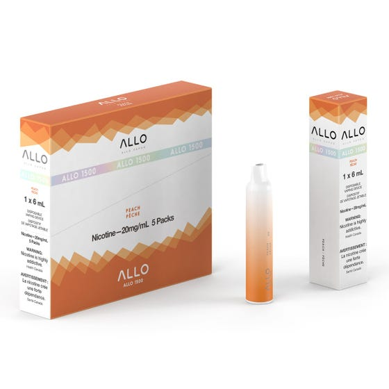 Peach ALLO 1500 Disposable Pod Bar Alliston Newmarket Woodbridge Vaughan Toronto GTA Ontario Canada