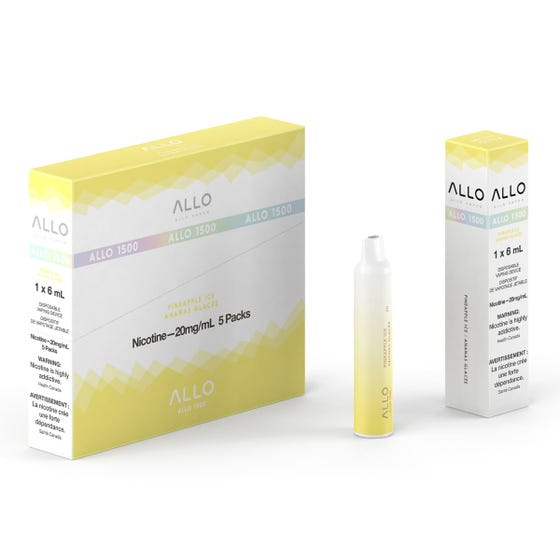 Pineapple Ice ALLO 1500 Disposable Pod Bar Alliston Newmarket Woodbridge Vaughan Toronto GTA Ontario Canada