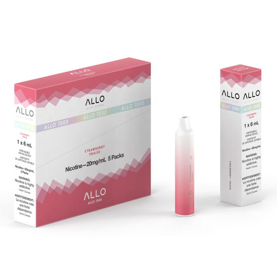 Strawberry ALLO 1500 Disposable Pod Bar Alliston Newmarket Woodbridge Vaughan Toronto GTA Ontario Canada