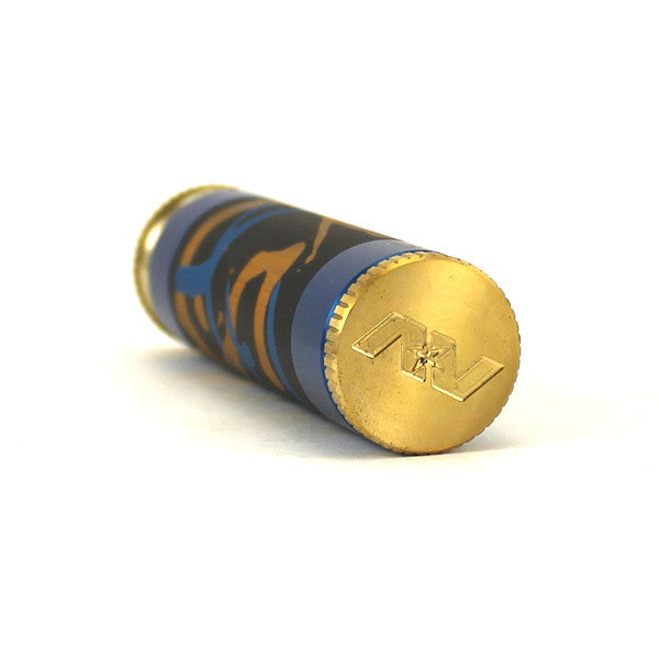 Blue Splatter Aluminum Able Mod w. Matching Captain's Cap by Avid Lyfe - IN2VAPES