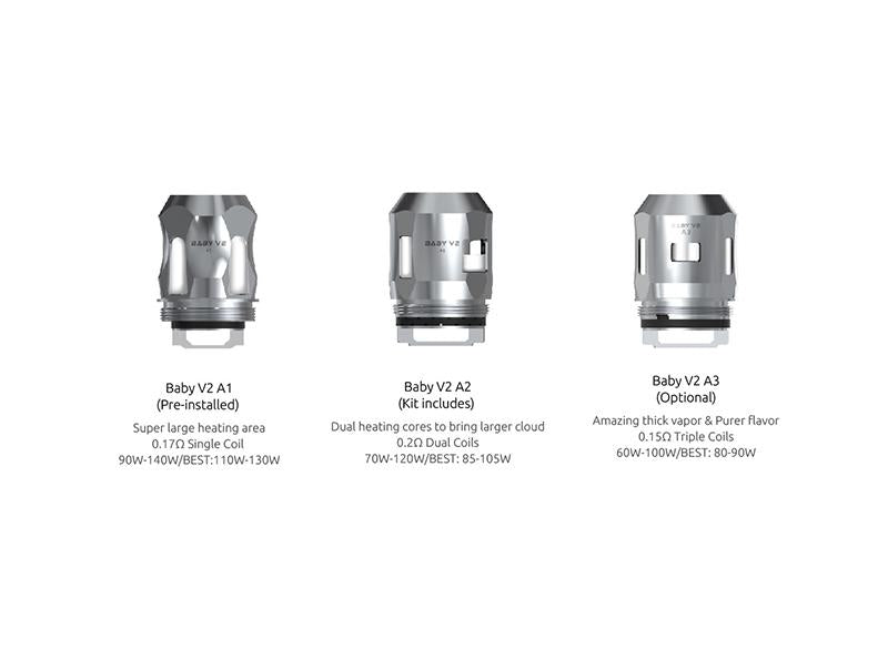 Replacement Coils for SMOK Baby V2 Tank Toronto Ontario GTA Vaughan Woodbridge Newmarket Canada