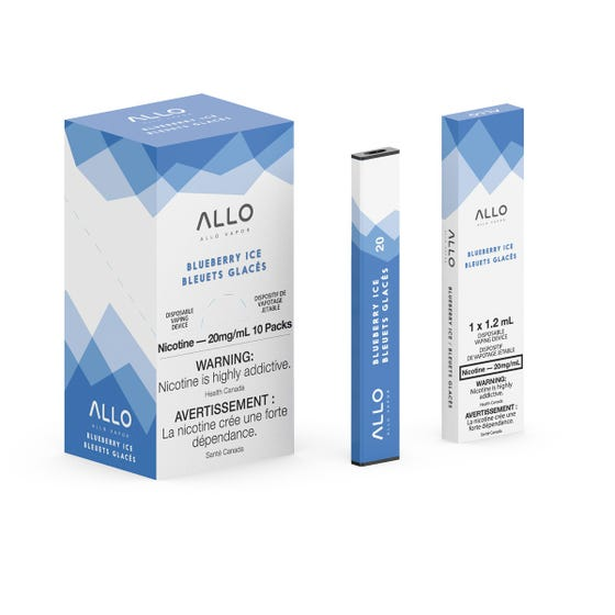 Blueberry Ice ALLO Disposable Pod Bar Alliston Newmarket Woodbridge Vaughan Toronto GTA Ontario Canada