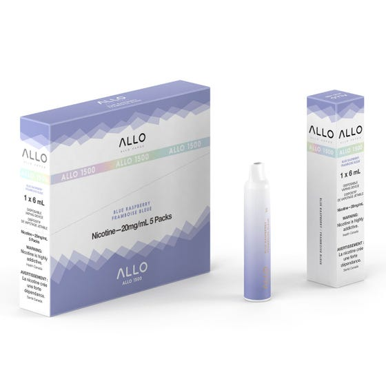 Blue Raspberry ALLO 1500 Disposable Pod Bar Alliston Newmarket Woodbridge Vaughan Toronto GTA Ontario Canada