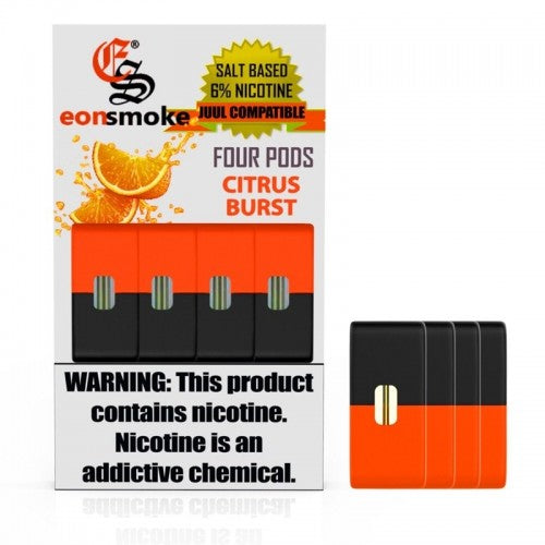 Citrus Burst Eonsmoke JUUL Compatable Pods Alliston Newmarket Vaughan GTA Toronto Woodbridge Ontario Canada