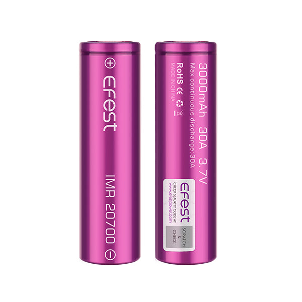 Efest 20700 3000mAh 30A - IN2VAPES