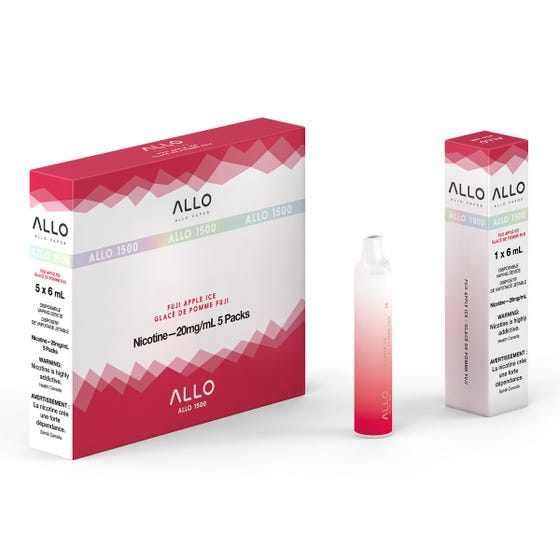 Fuji Apple Ice ALLO 1500 Disposable Pod Bar Alliston Newmarket Woodbridge Vaughan Toronto GTA Ontario Canada