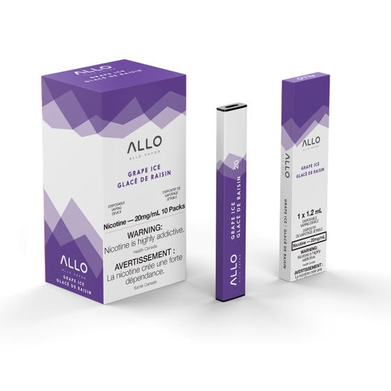 Grape Ice ALLO Disposable Pod Bar Alliston Newmarket Woodbridge Vaughan Toronto GTA Ontario Canada